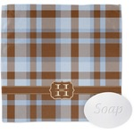 Two Color Plaid Wash Cloth (Personalized)