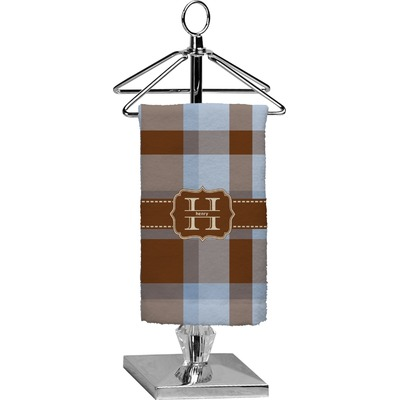 Two Color Plaid Finger Tip Towel - Full Print (Personalized)