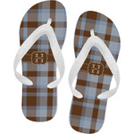 Two Color Plaid Flip Flops (Personalized)