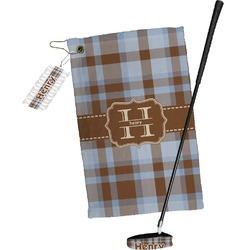 Two Color Plaid Golf Towel Gift Set (Personalized)