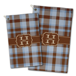 Two Color Plaid Golf Towel - Full Print w/ Name and Initial