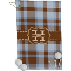 Two Color Plaid Golf Towel - Full Print (Personalized)