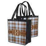 Two Color Plaid Grocery Bag (Personalized)