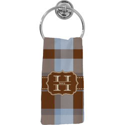 Two Color Plaid Hand Towel - Full Print (Personalized)