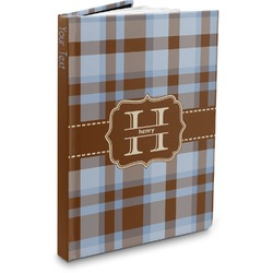 Two Color Plaid Hardbound Journal (Personalized)