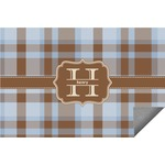 Two Color Plaid Indoor / Outdoor Rug (Personalized)