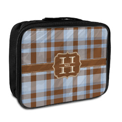 Two Color Plaid Insulated Lunch Bag (Personalized)