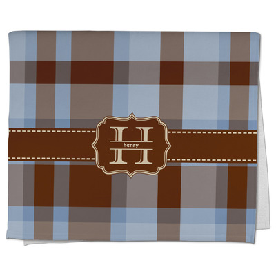 Two Color Plaid Kitchen Towel - Full Print (Personalized)