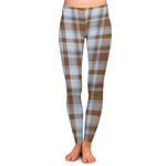 Two Color Plaid Ladies Leggings (Personalized)