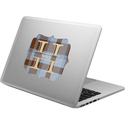 Two Color Plaid Laptop Decal (Personalized)
