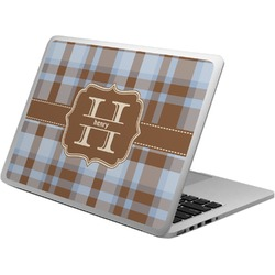 Two Color Plaid Laptop Skin - Custom Sized (Personalized)