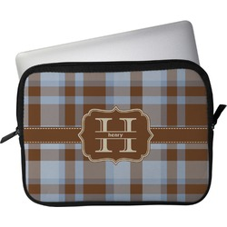 """Two Color Plaid Laptop Sleeve / Case - 12"""" (Personalized)"""