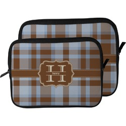 Two Color Plaid Laptop Sleeve / Case (Personalized)