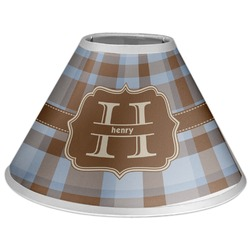 Two Color Plaid Coolie Lamp Shade (Personalized)