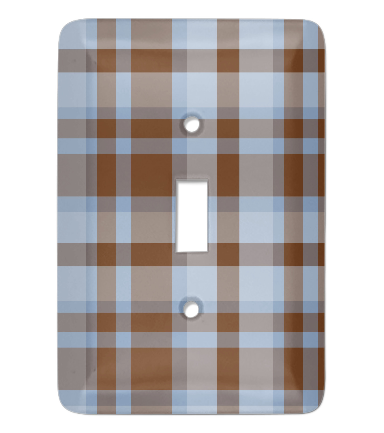 Two Color Plaid Light Switch Cover Single Toggle Personalized