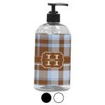 Two Color Plaid Plastic Soap / Lotion Dispenser (Personalized)