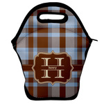 Two Color Plaid Lunch Bag w/ Name and Initial