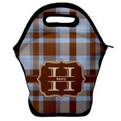 Two Color Plaid Lunch Bag (Personalized)