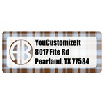 Two Color Plaid Return Address Labels (Personalized)