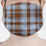 Two Color Plaid Face Mask Cover (Personalized)
