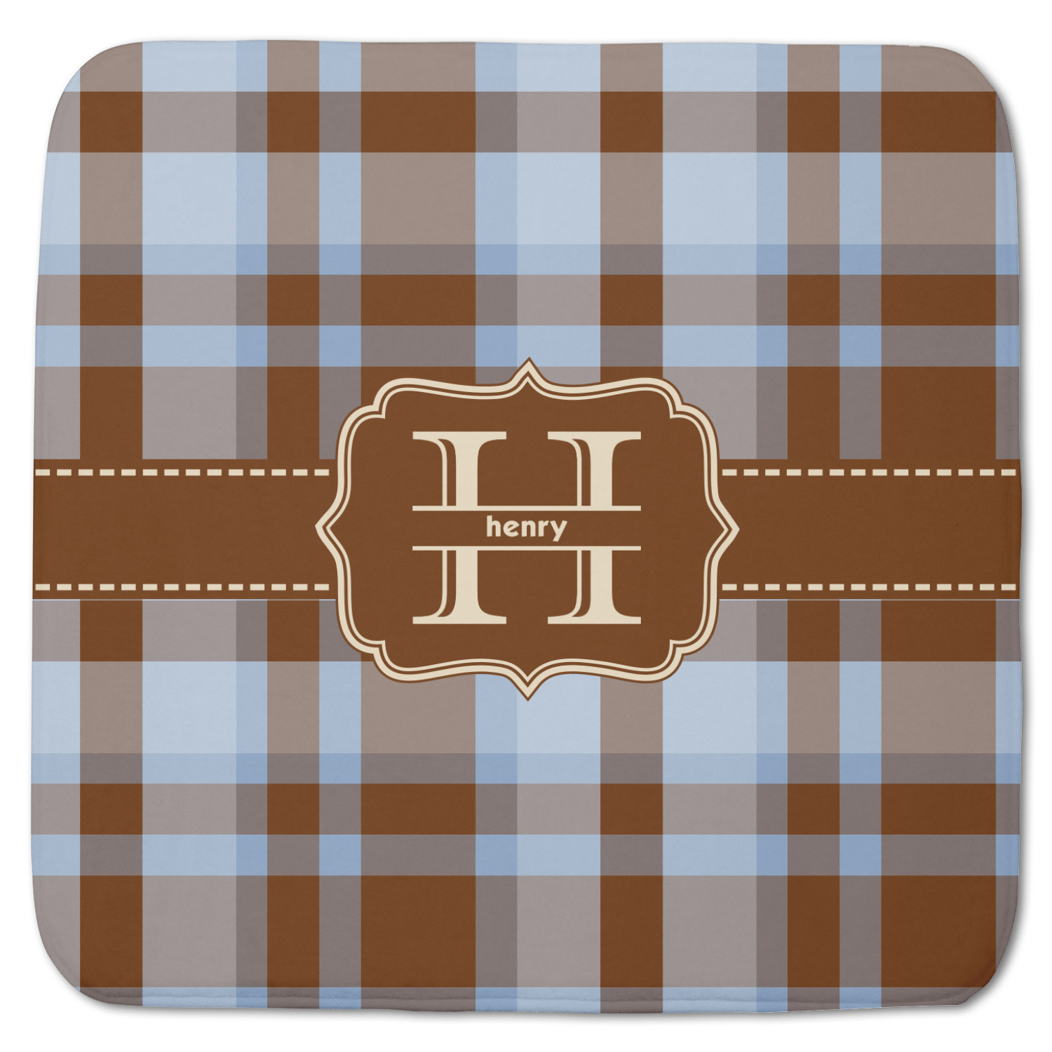 Two Color Plaid Memory Foam Bath Mat (Personalized) - YouCustomizeIt
