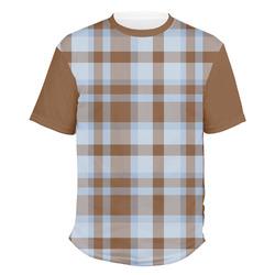 Two Color Plaid Men's Crew T-Shirt (Personalized)