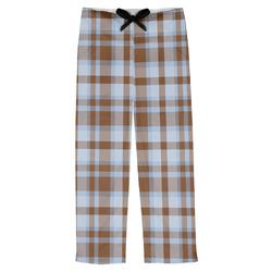 Two Color Plaid Mens Pajama Pants (Personalized)