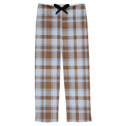 Two Color Plaid Mens Pajama Pants (Personalized)