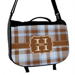 Two Color Plaid Messenger Bag (Personalized)