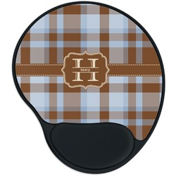 Two Color Plaid Mouse Pad with Wrist Support