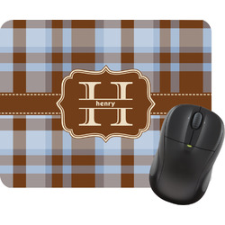 Two Color Plaid Rectangular Mouse Pad (Personalized)