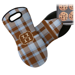 Two Color Plaid Neoprene Oven Mitt (Personalized)