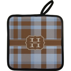 Two Color Plaid Pot Holder (Personalized)