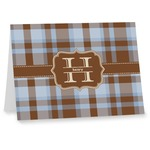 Two Color Plaid Note cards (Personalized)