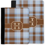Two Color Plaid Notebook Padfolio w/ Name and Initial