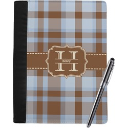 Two Color Plaid Notebook Padfolio (Personalized)