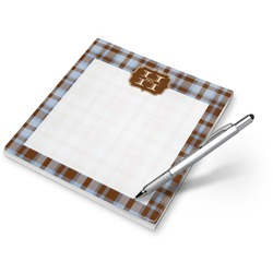 Two Color Plaid Notepad (Personalized)