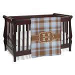 Two Color Plaid Baby Blanket (Personalized)