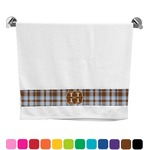 Two Color Plaid Bath Towel (Personalized)