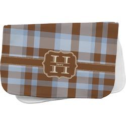 Two Color Plaid Burp Cloth (Personalized)