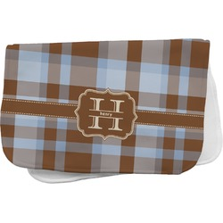 Two Color Plaid Burp Cloth (Personalized)