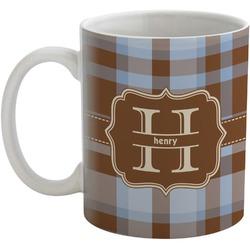Two Color Plaid Coffee Mug (Personalized)