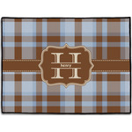 Two Color Plaid Door Mat (Personalized)