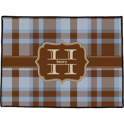 """Two Color Plaid Door Mat - 36""""x24"""" (Personalized)"""