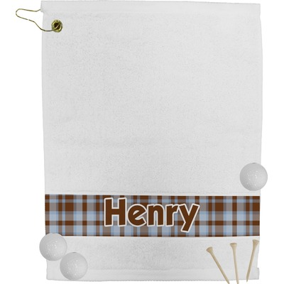 Two Color Plaid Golf Towel (Personalized)