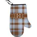 Two Color Plaid Oven Mitt (Personalized)