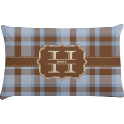 Two Color Plaid Pillow Case (Personalized)