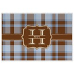 Two Color Plaid Placemat (Laminated) (Personalized)