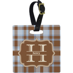 Two Color Plaid Luggage Tags (Personalized)