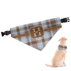 Two Color Plaid Dog Bandana - Large (Personalized)